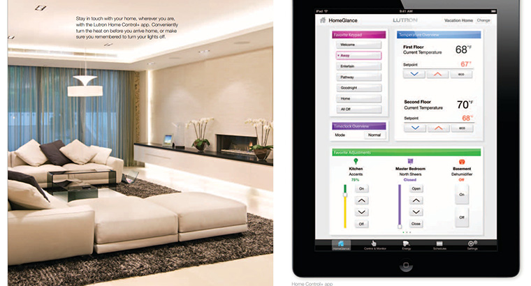 total home lighting control-lutron home and tablet